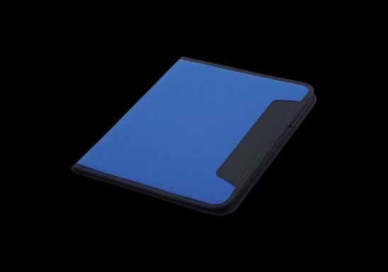 600D A4 Folder with Inner Pocket - Blue