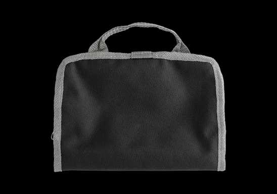 Toiletry Bag with Dual Zippered Compartments - Black