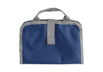 Toiletry Bag with Dual Zippered Compartments - Blue