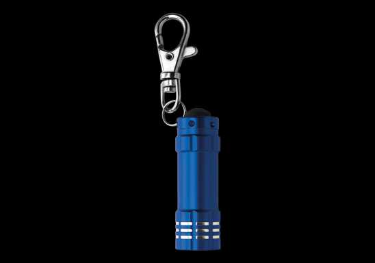Metal Pocket Torch with LED Lights - Blue
