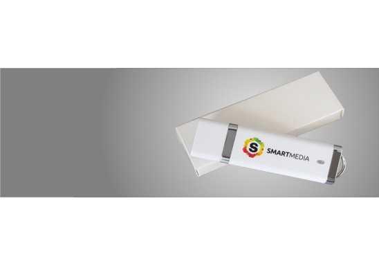 White Slimline USB