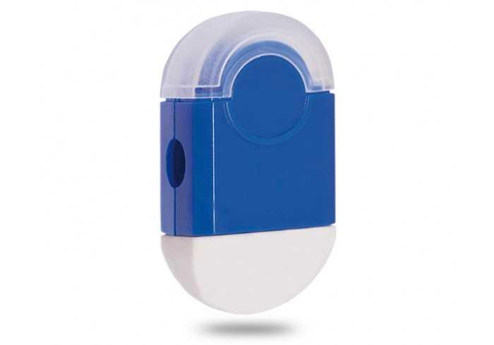 Duo Eraser And Sharpener - Blue