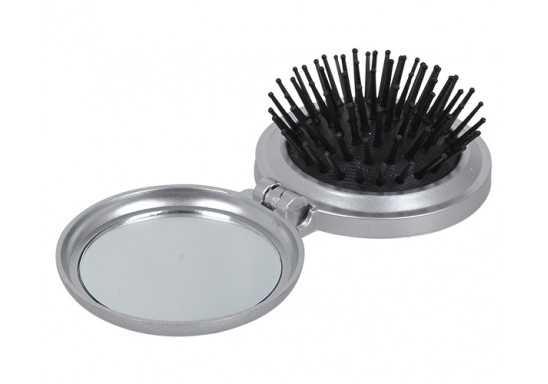 Gloss Compact Brush And Mirror