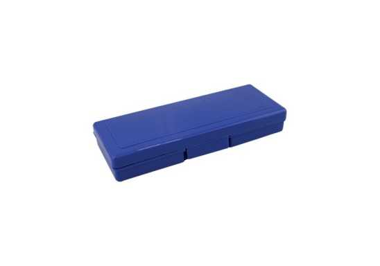 Plastic Pencil Case - Blue