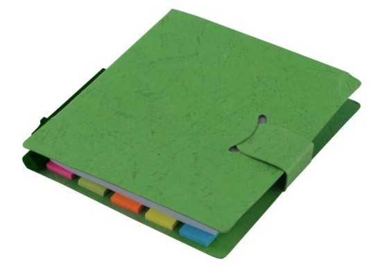 Sticky Memo Mini Notepad & Pen - Green