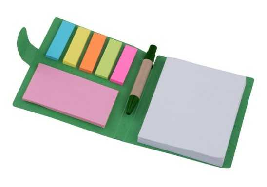 Sticky Memo Mini Notepad & Pen - Open