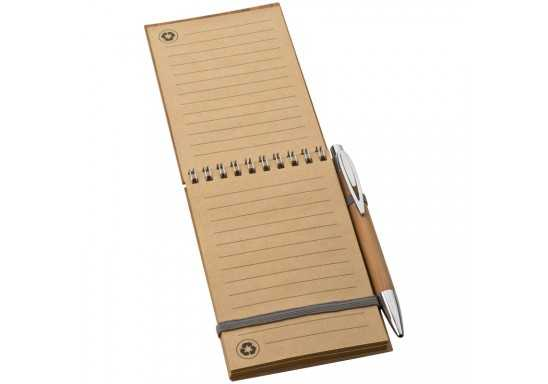 Bamboo Eco-Friendly Pocket Book With Pen
