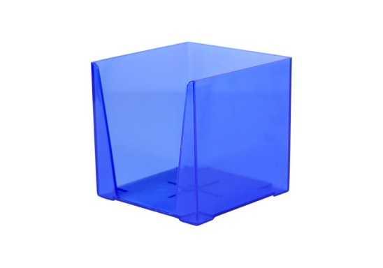 Transparent Paper Cube Holders - Blue