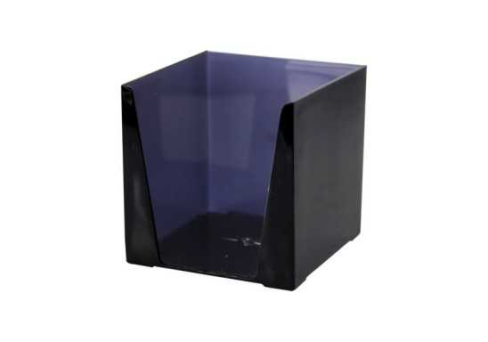 Transparent Paper Cube Holders - Charcoal