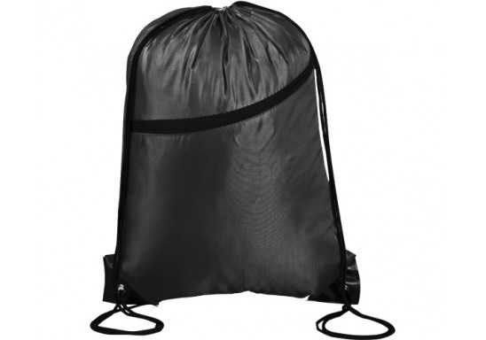 Double-Up Drawstring Bag - Black