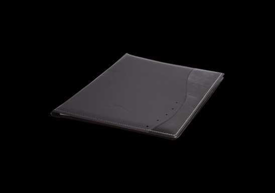 Curved Design A5 Folder - Black