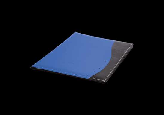 Curved Design A5 Folder - Blue