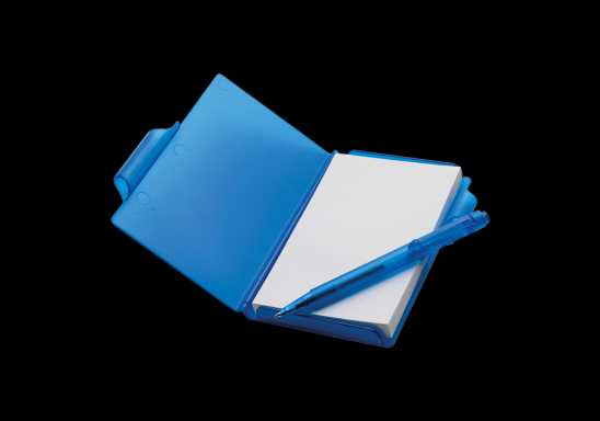 Notebook and Pen in Plastic Case - Blue