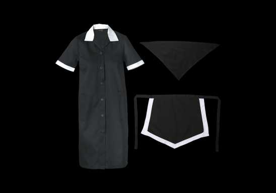 Ladies Poly Cotton 3 Piece Set - Black