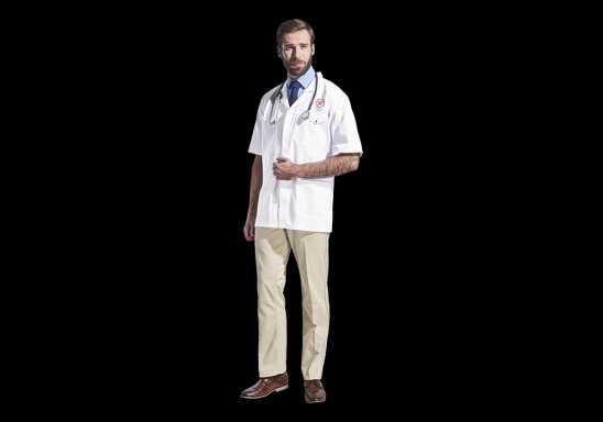 All-Purpose Short Sleeve Lab Coat