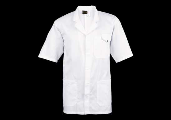 All-Purpose Short Sleeve Lab Coat - White