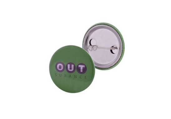 Button Badge (37mm) - Pin Clip