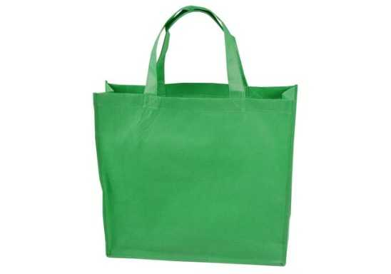 Gusset Shopper Bag - Light Green