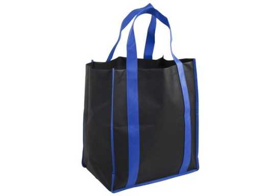 Concord Gusset Shopper Bag - Black/Blue
