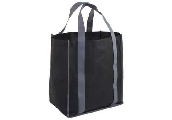 Concord Gusset Shopper Bag - Black/Grey