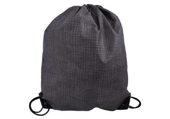 Fleck Drawstring Bag - Black