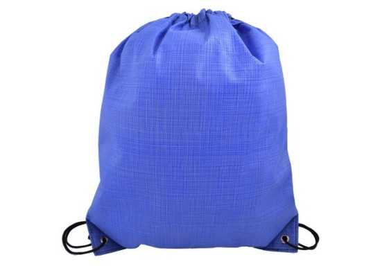 Fleck Drawstring Bag - Blue