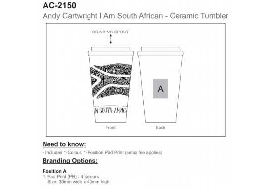 I Am South African Tumbler - 320ml