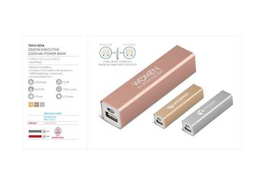 Odeon Executive 2200mAh Power Bank