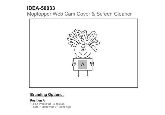 Moptopper Webcam Cover & Screen Cleaner