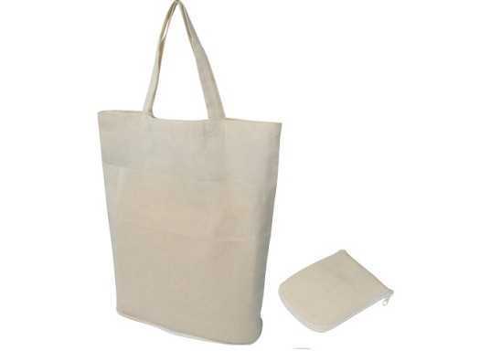 FOLD-UP COTTON SHOPPER