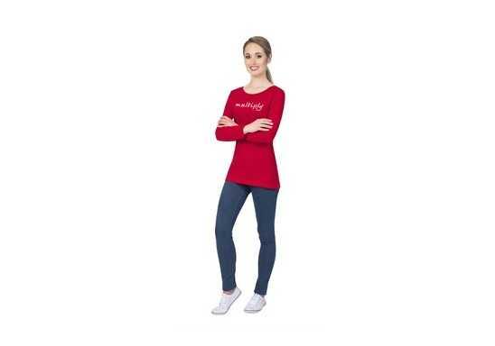 US Basic Ladies Long Sleeve Portland T-Shirt