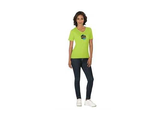 US Basic Ladies Super Club 165 V-Neck T-Shirt - Black