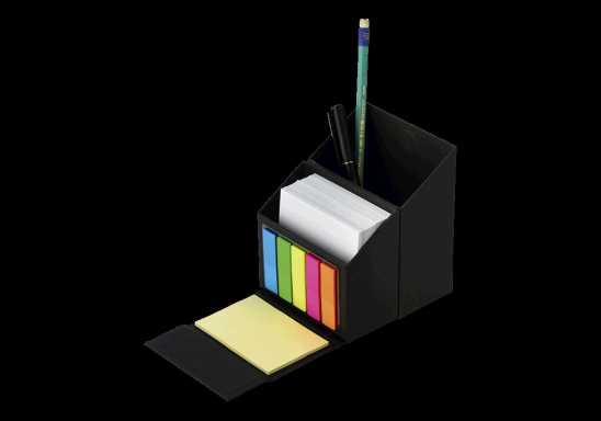 Flip Open Desk Organiser With Sticky Notes