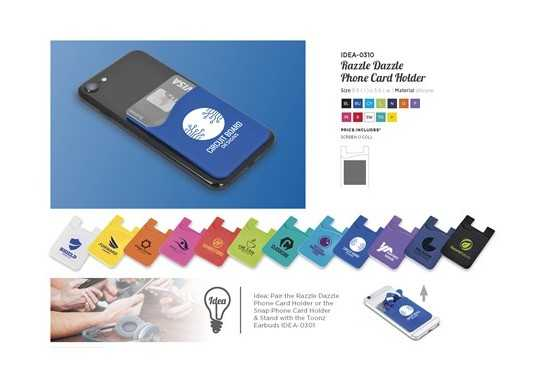 Razzle Dazzle Phone Card Holder