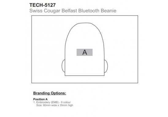 Swiss Cougar Belfast Bluetooth Beanie