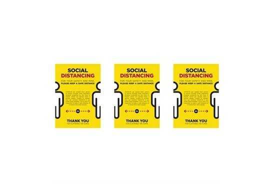 Jupiter A2 Social Distance Poster - Set of 3