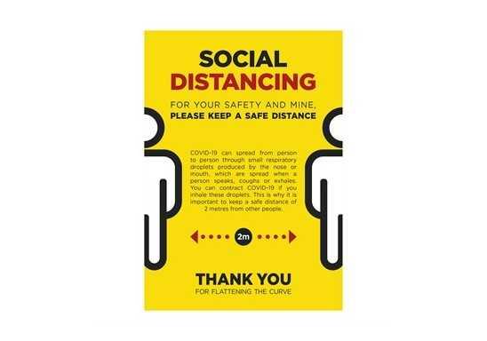 Jupiter A1 Social Distance Poster - Set Of 3