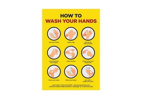 Jupiter A1 Hand Wash Poster - Set of 3