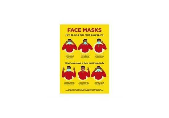 Jupiter A1 Face Masks Poster - Set of 3