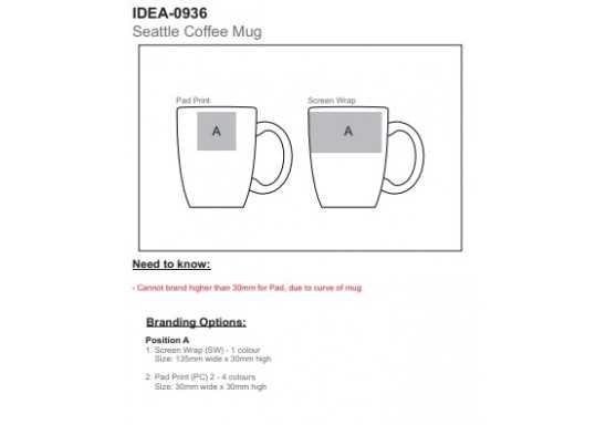 Seattle Coffee Mug (Bulk Packed) - 325ml