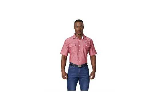 US Basic Mens Short Sleeve Windsor Shirt