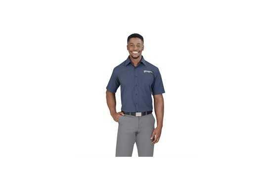 Micro Check Mens Short Sleeve Shirt
