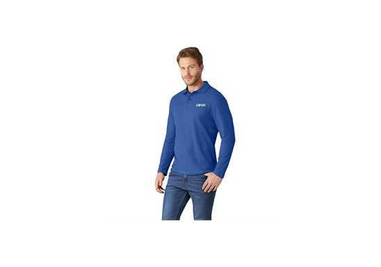 US Basic Boston Mens Long Sleeve Golf Shirt