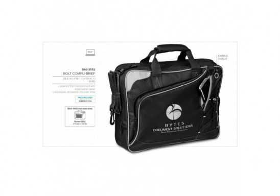 Bolt Compu-Messenger Bag - Black