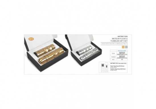 Meteor Flask & Tumbler Gift Set - Silver