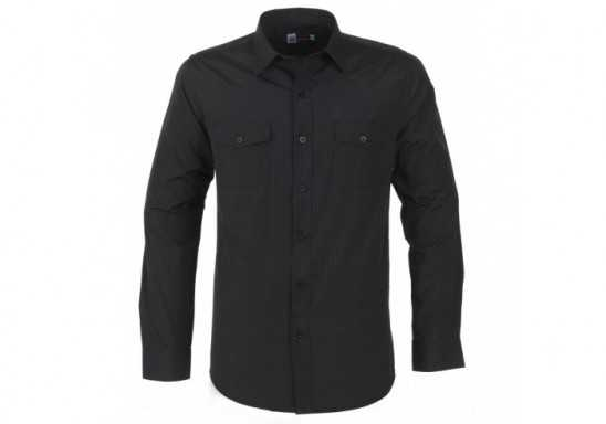 US Basic Bayport Mens Long Sleeve Shirt - Black