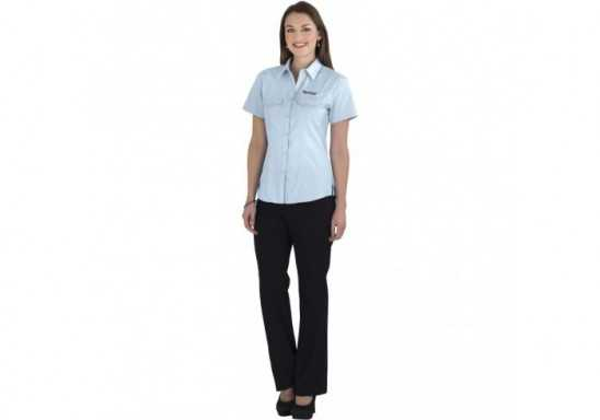US Basic Bayport Ladies Short Sleeve Shirt