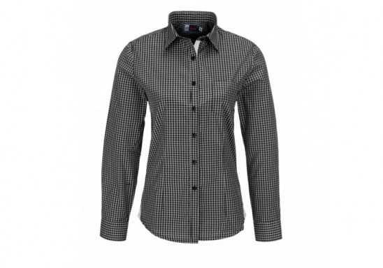 US Basic Kenton Ladies Long Sleeve Shirt - Black