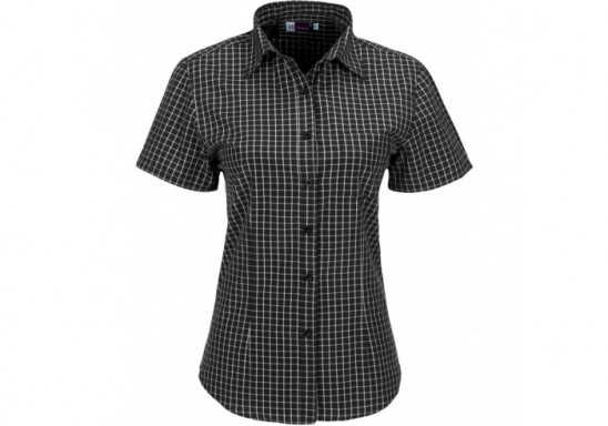 US Basic Aston Ladies Short Sleeve Shirt - Black