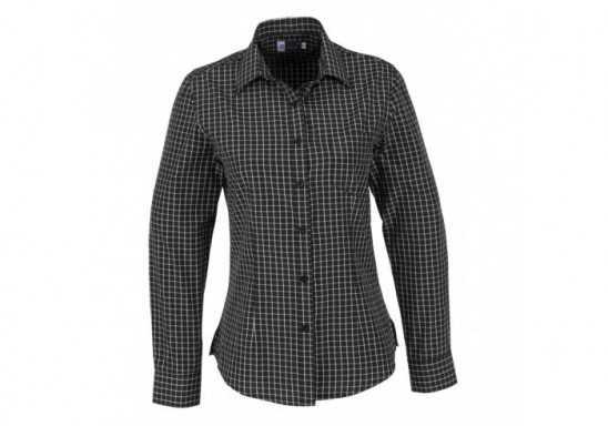 US Basic Aston Ladies Long Sleeve Shirt - Black